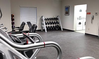 Fitness Weight Room, Furnished Studio - Charlotte - Rock Hill, 2