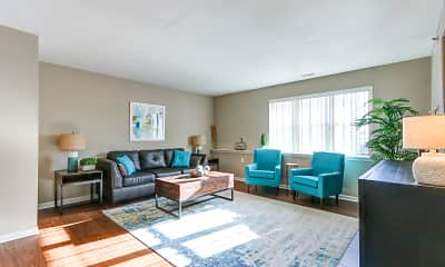 Living Room, Georgetown Park Apartments, 0