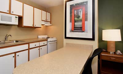 Kitchen, Furnished Studio - Greenville - Haywood Mall, 1
