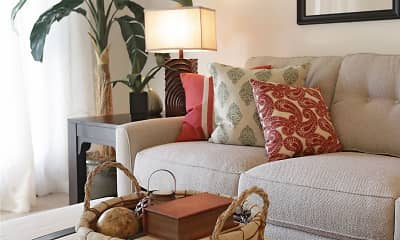 Living Room, Holly Terrace Apartments, 1