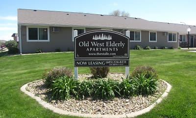 Community Signage, Old West Apartments, 0