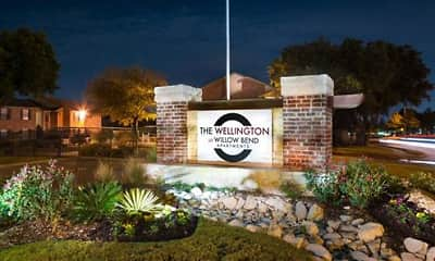Community Signage, The Wellington at Willow Bend, 2