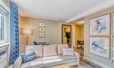 Living Room, The Maynard at 5115 N Sheridan, 0
