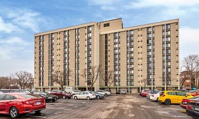Building, Hopkins Village Apartments, 1