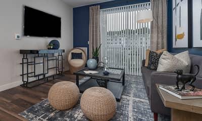Living Room, The Vue at Maynard Crossing, 2