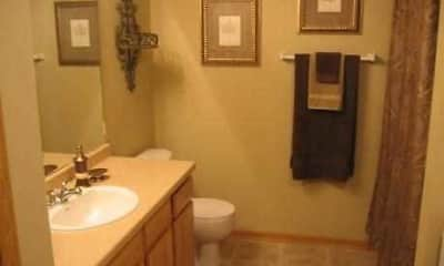Bathroom, Honey Creek Apartments, 2