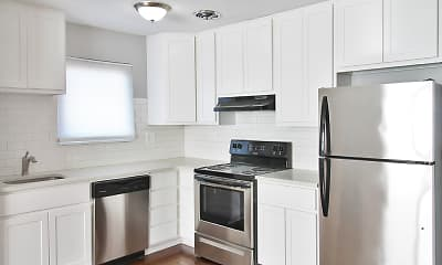 Kitchen, Oak Park Apartments, 1
