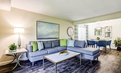Living Room, Edgewood Park Apartments, 0