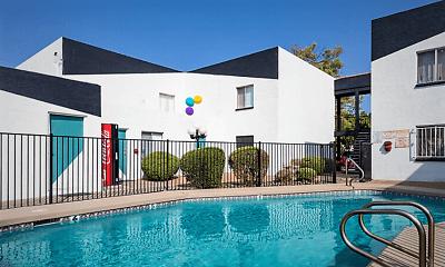 Pool, Carole Arms Apartments, 0