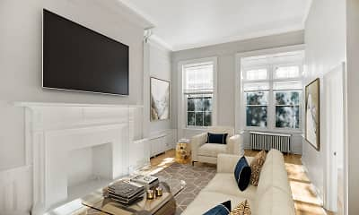 Living Room, Spruce Apartments, 0