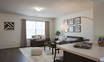 Living Room, Canvas Townhomes Columbia, 1