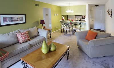 Living Room, Pine Hill Apartments, 0