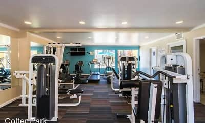 Fitness Weight Room, Colter Park Apartments, 1