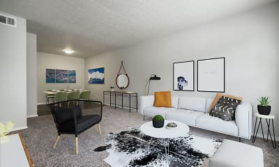 Living Room, Courtyard Apartments, 0