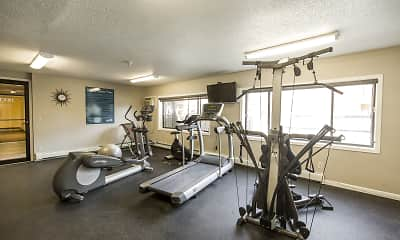 Fitness Weight Room, Westwood Park Apartments, 2