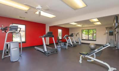 Fitness Weight Room, Brickstone Apartments, 2