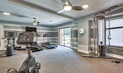 Fitness Weight Room, Parkway Apartments, 1