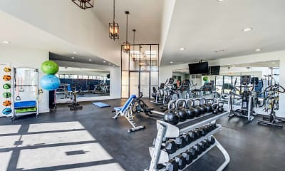 Fitness Weight Room, Deercross Apartments, 0