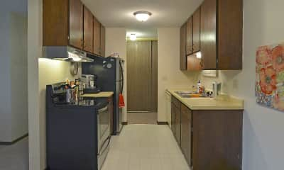 Kitchen, Village Apartments, 1