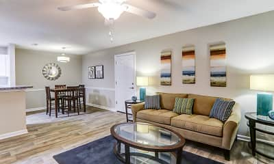 Living Room, Lakeview at Cottage Hill, 1