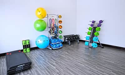 Fitness Weight Room, The City Apartments, 2