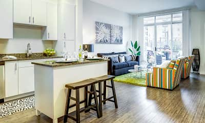 Kitchen, Postmark Apartments, 1