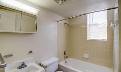 Bathroom, Colonial Hall Apartments, 2