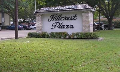 Community Signage, Hillcrest Plaza Apartments, 0
