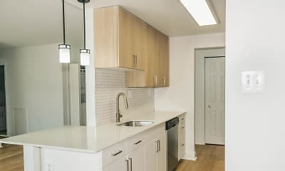 Kitchen, Delmont Apartments, 1