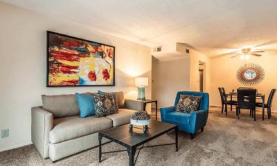 Living Room, Devonshire Apartments, 1