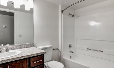 Bathroom, Spring Club Apartments, 2