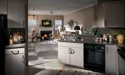 Kitchen, The Crest At Elm Tree, 1