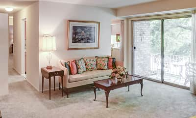 Living Room, Kenwood Park Apartments, 1