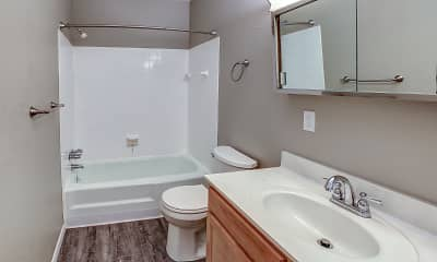 Bathroom, Riviera Apartments, 2