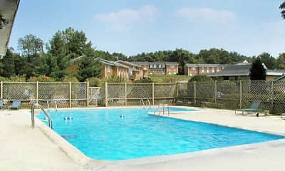 Pool, Northridge Village Apartments, 1