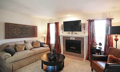 Living Room, Newport Apartments, 1