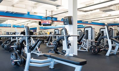 Fitness Weight Room, Village at Main Street, 2