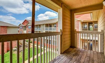 Patio / Deck, The Parker Apartment Homes, 2