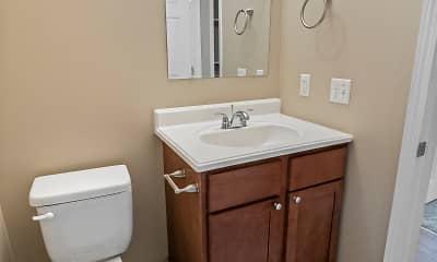 Bathroom, Melrose Gates Apartments, 2