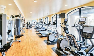 Fitness Weight Room, Marina Harbor Apartments, 2