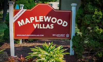 Community Signage, Maplewood Villas, 0