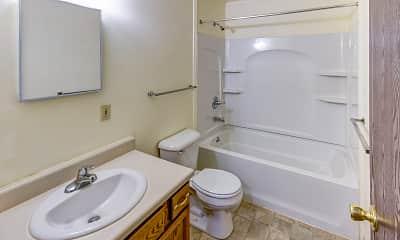 Bathroom, Riverside Townhomes, 2