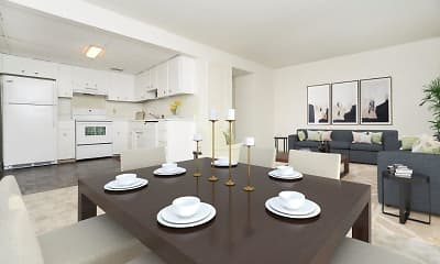 Dining Room, Vineland Village Apartment Homes, 1