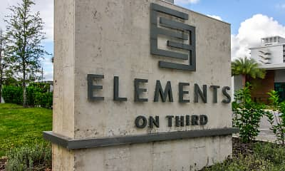 Community Signage, Elements on Third, 2