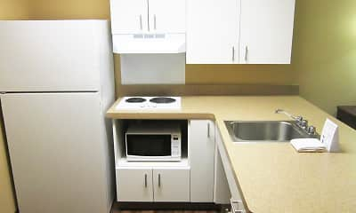 Kitchen, Furnished Studio - Colorado Springs - West, 1