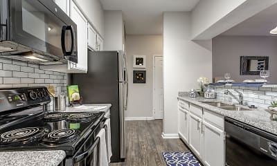Kitchen, Preserve at Westover Hills Apartments, 1