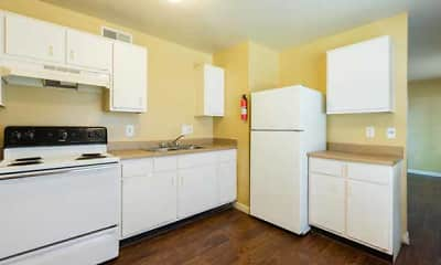 Kitchen, King's Row Apts, 1