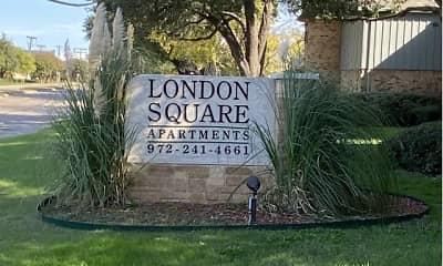Community Signage, London Square, 1