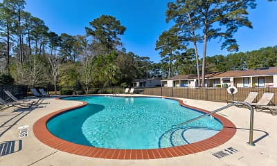 Pool, Abbey Lake Apartments, 0