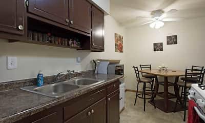 Kitchen, Continental Village, 1